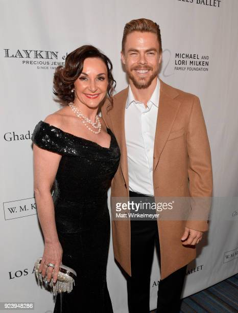 Shirley Ballas and Derek Hough attend the 12th Annual Los Angeles Ballet Gala at the Beverly Wilshire Four Seasons Hotel on February 24 2018 in...
