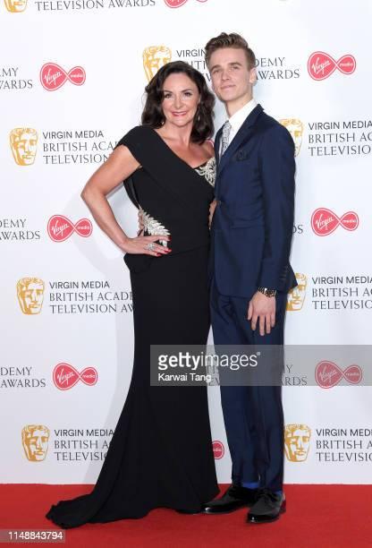 Shirley Ballas and Joe Sugg pose in the Press Room at the Virgin TV BAFTA Television Award at The Royal Festival Hall on May 12 2019 in London England