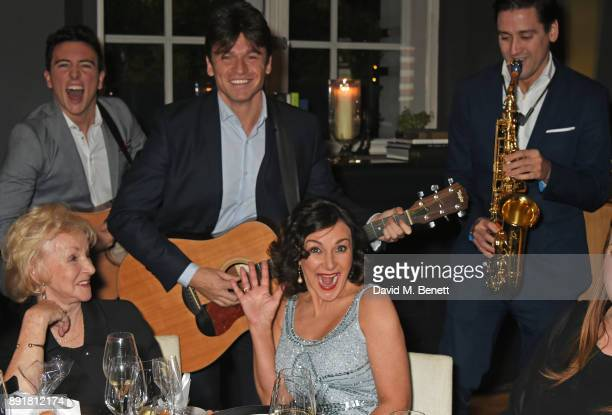 Shirley Ballas and mother Audrey Rich enjoy a performance by The Gypsy Queens at the Rosewood Mini Wishes Gala Dinner in aid of Great Ormond Street...