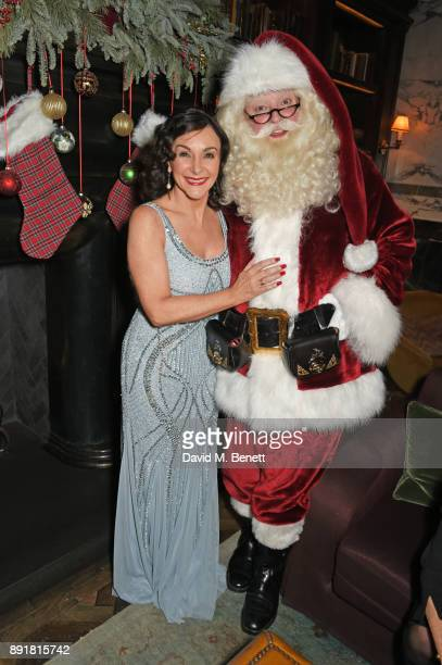 Shirley Ballas and Santa Claus attend the Rosewood Mini Wishes Gala Dinner in aid of Great Ormond Street Hospital Children's Charity at Rosewood...