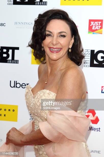 Shirley Ballas arrives on the red carpet at the British LGBT Awards at the London Marriott Hotel Grosvenor Square.