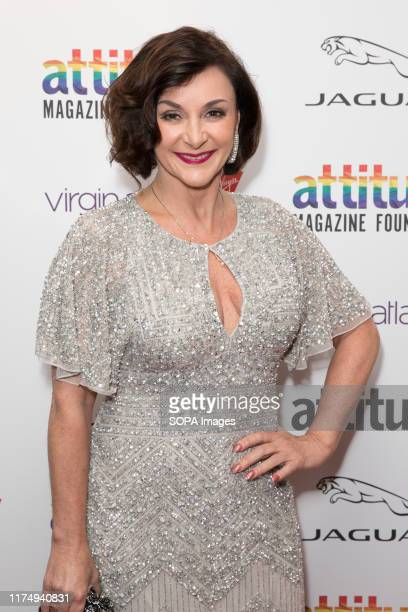 Shirley Ballas attends the Virgin Atlantic Attitude Awards 2019 powered by Jaguar at The Roundhouse Camden.