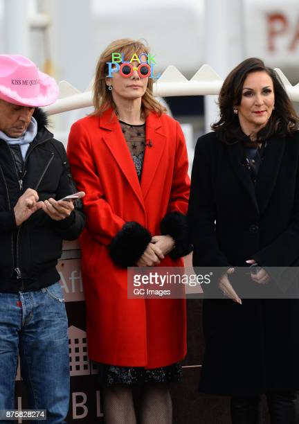 Shirley Ballas Darcey Bussell and Bruno Tonioli seen filming scenes for Strictly Come Danicing on November 18 2017 in Blackpool England