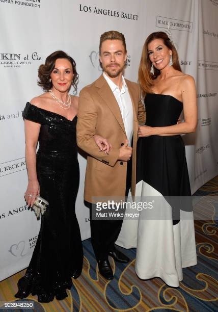 Shirley Ballas Derek Hough and Kirsten Sarkisian attend the 12th Annual Los Angeles Ballet Gala at the Beverly Wilshire Four Seasons Hotel on...