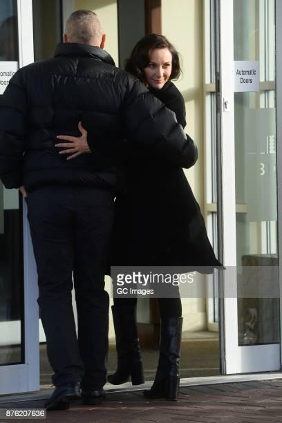 Shirley Ballas seen leaving her hotel on November 19 2017 in Blackpool England