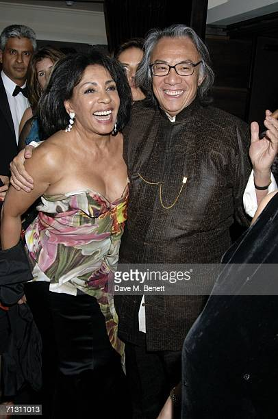 Shirley Bassey and David Tang attend the Dorchester Bar launch party at the Dorchester hotel on June 27 2006 in London England