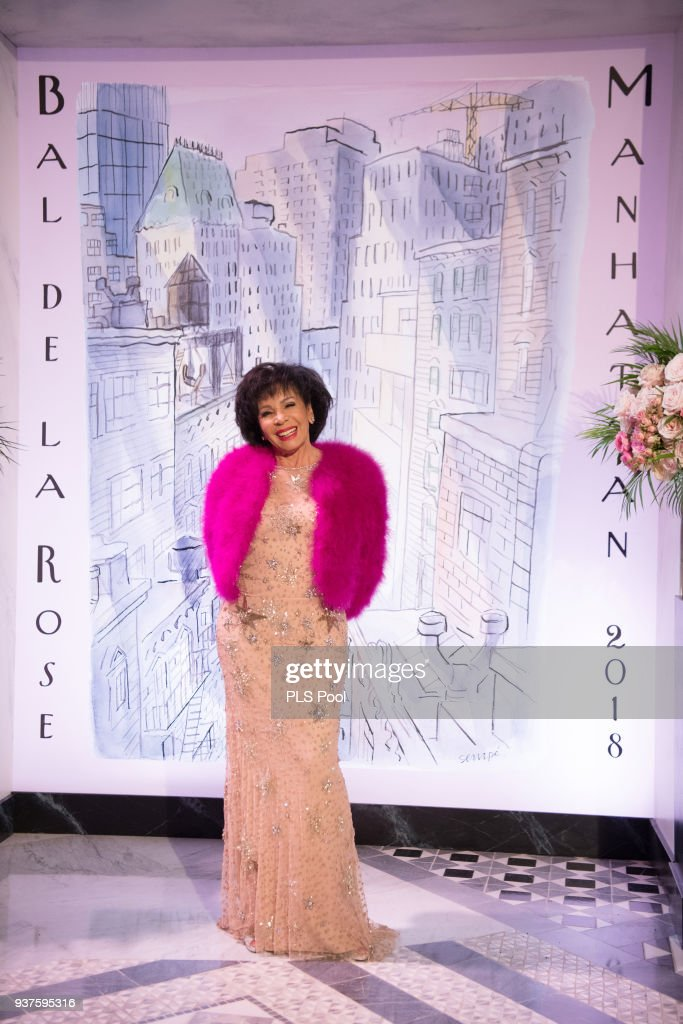 Shirley Bassey arrives at the Rose Ball 2018 To Benefit The Princess Grace Foundation at Sporting Monte-Carlo on March 24, 2018 in Monte-Carlo, Monaco.
