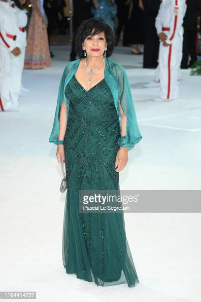Shirley Bassey attends the 71th Monaco Red Cross Ball Gala on July 26 2019 in Monaco Monaco