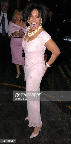 Shirley Bassey during LaurentPerrier 'Chilled Pink' Party Arrivals at Quaglino's in London Great Britain