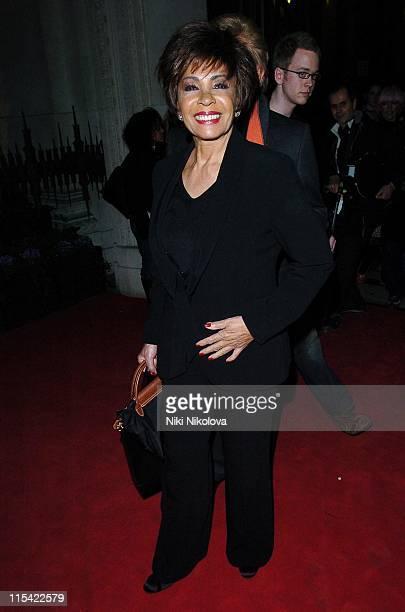 Shirley Bassey during London Fashion Week Autumn/Winter 2006 Julien MacDonald Departures at Freemasons Hall in London Great Britain