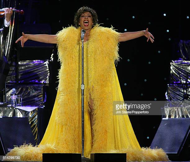 Shirley Bassey performing at the Wembley Arena in London 9th June 2006