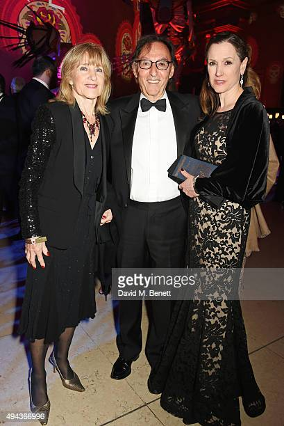 Shirley Blackstone Don Black and Laurie Barry attend the World Premiere after party of Spectre at The British Museum on October 26 2015 in London...