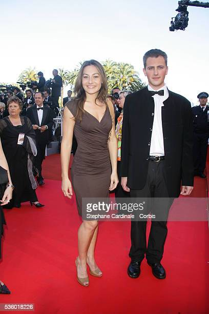Shirley Bousquet and date arrive at the premiere of 'Zodiac' during the 60th Cannes Film Festival