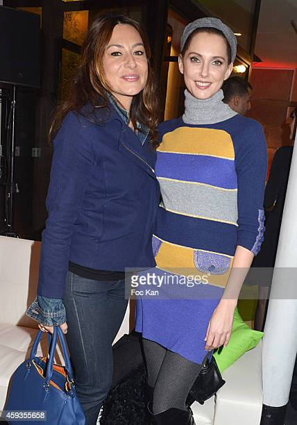 Shirley Bousquet and Frederique Bel attend the Acer Pop Up Store Launch Party at Les Halles on November 20, 2014 in Paris, France.