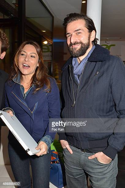 Shirley Bousquet and Gregory Fitoussi attend the Acer Pop Up Store Launch Party at Les Halles on November 20, 2014 in Paris, France.