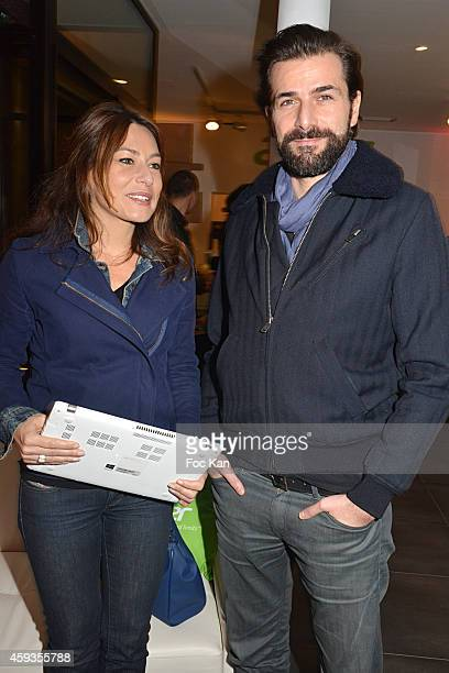 Shirley Bousquet and Gregory Fitoussi attend the Acer Pop Up Store Launch Party at Les Halles on November 20 2014 in Paris France