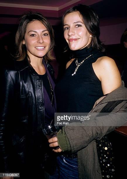 Shirley Bousquet and Zoe Felix during 'Convivium' Paris Premiere After Party at La Suite Club in Paris France