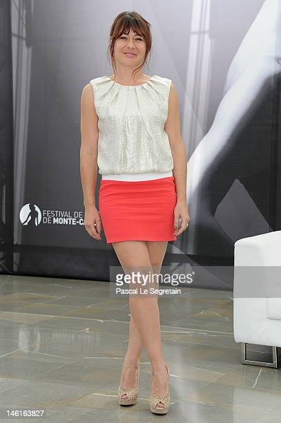 Shirley Bousquet poses at the photocall for 'Victoire Bonnot' during the 52nd Monte Carlo TV Festival on June 11 2012 in MonteCarlo Monaco