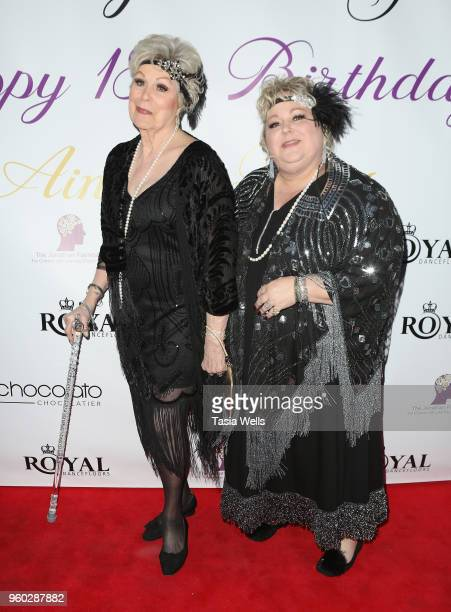Shirley Brown and Stacey A Durante attend actress Ainsley Ross birthday party benefiting The Jonathan Foundation Upstairs At Vitellos on May 19 2018...