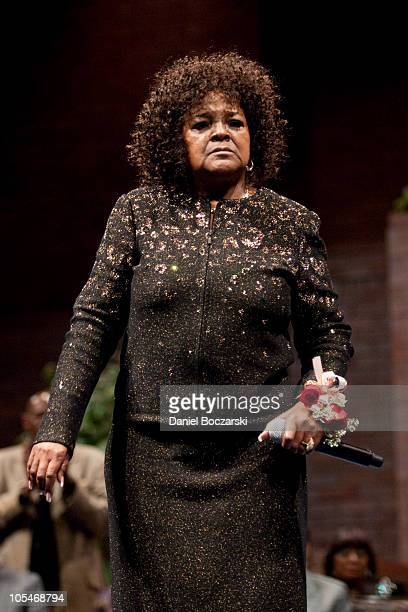 Shirley Caesar performs during the memorial service for Albertina Walker at the Apostolic Church of God on October 14 2010 in Chicago Illinois