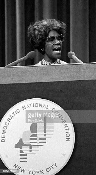 Shirley Chisholm attends Democratic National Convention on August 11 1980 at Madison Square Garden in New York City