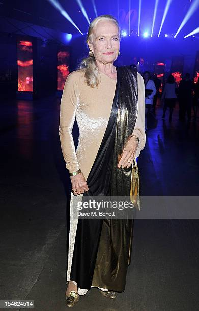 Shirley Eaton attends an after party for the Royal World Premiere of 'Skyfall' at the Tate Modern on October 23 2012 in London England