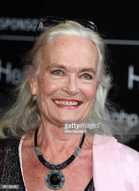 Shirley Eaton attends Bryan Adams 'Hear The World Ambassadors' exhibition at Saatchi Gallery on July 21 2009 in London England
