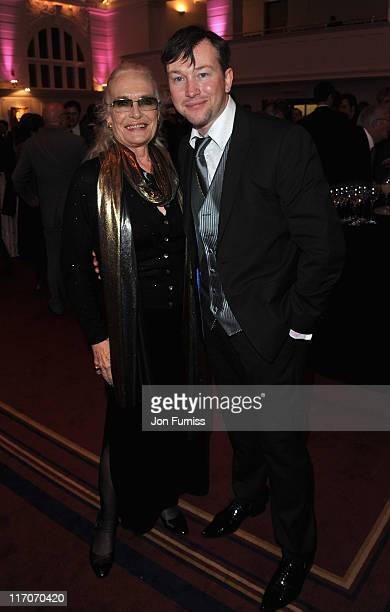 Shirley Eaton attends the John Barry Memorial Concert after party at the Royal College of Music on June 20 2011 in London England