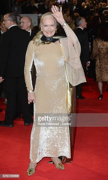 Shirley Eaton attends the premiere of Skyfall at Royal Albert Hall