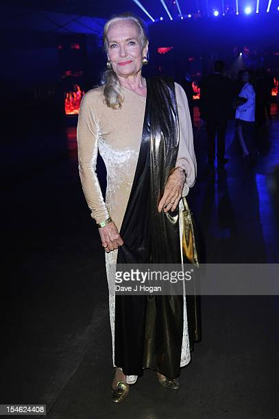 Shirley Eaton attends the Royal world premiere after party of 'Skyfall' at The Tate Modern on October 23 2012 in London England