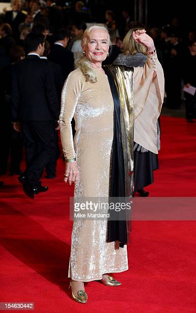Shirley Eaton attends the Royal World Premiere of 'Skyfall' at Royal Albert Hall on October 23 2012 in London England