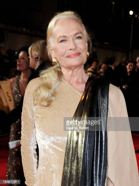 Shirley Eaton attends the Royal World Premiere of 'Skyfall' at the Royal Albert Hall on October 23 2012 in London England