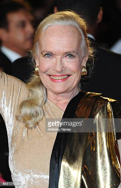 Shirley Eaton attends the Royal World Premiere of 'Skyfall' on October 23 2012 at the Royal Albert Hall in London