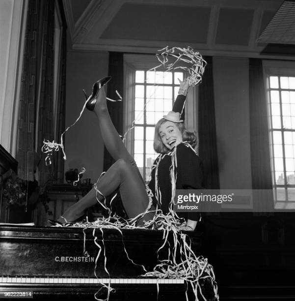 Shirley Eaton rehearsing for the television show 'Saturday Spectacular' on ITV Camden Town London 30th December 1960