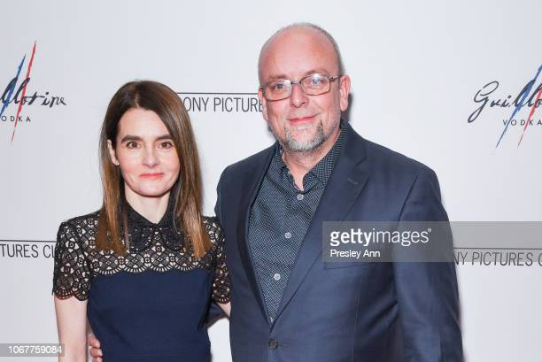 """Shirley Henderson and Mark Coulier attend AFI Special Screening After Party Of """"Stan & Ollie"""" at Liaison Restaurant on November 14, 2018 in Los..."""