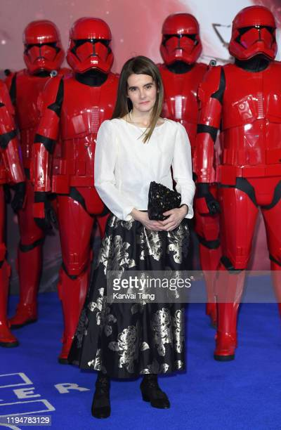 Shirley Henderson attends the Star Wars The Rise of Skywalker European Premiere at Cineworld Leicester Square on December 18 2019 in London England