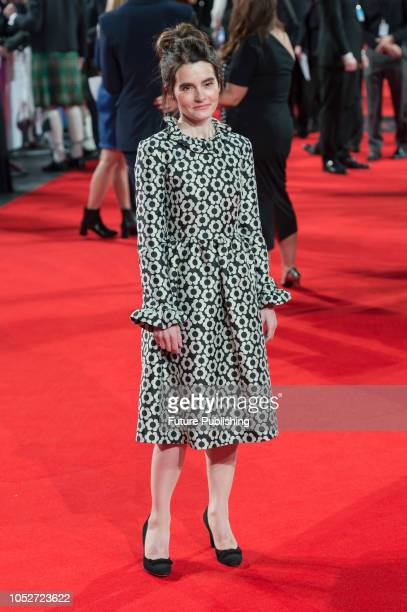 Shirley Henderson attends the World Premiere of 'Stan & Ollie' at Cineworld, Leicester Square, during the 62nd London Film Festival Closing Night...