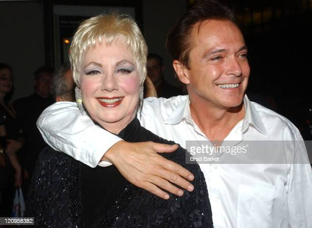 Shirley Jones and David Cassidy during 49th Annual Drama Desk Award Ceremonies at La Guardia Concert Hall in New York New York United States