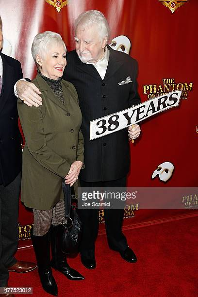 """Shirley Jones and Marty Ingels attend """"The Phantom Of The Opera"""" Los Angeles Opening Night at the Pantages Theatre on June 17, 2015 in Hollywood,..."""