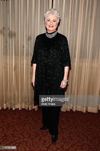 Shirley Jones poses backstage after her openingnight performance at Feinstein's at Loews Regency Ballroom on March 15 2011 in New York City