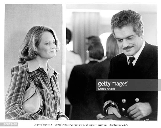 Shirley Knight and Omar Sharif in a scene from the film 'Juggernaut' 1974
