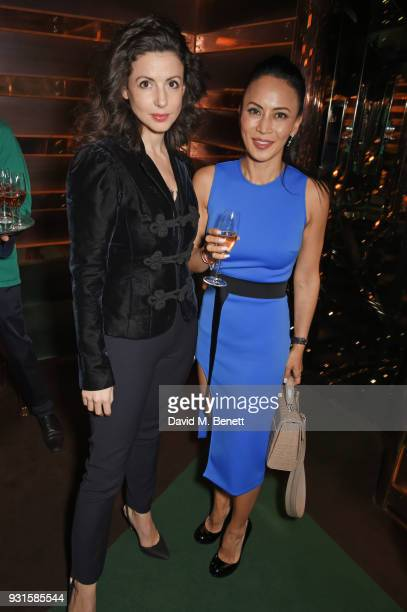 Shirley LeighWood Oakes and Vicky Lee attend the launch of Champagne Armand de Brignac Blanc de Blancs en Magnum at Casa Cruz on March 13 2018 in...