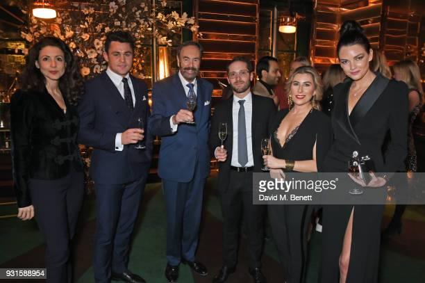 Shirley LeighWood Oakes guest Robert Walton Emilien Boutillat Seby Gurrieri and Mim Gardiner attend the launch of Champagne Armand de Brignac Blanc...
