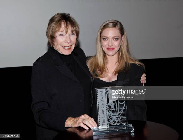 Shirley MacLaine and Amanda Seyfried attend The KCET Cinema Series Lumiere Award Ceremony and 'The Last Word' screening at ArcLight Sherman Oaks on...