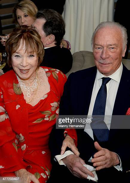 Shirley MacLaine and Christopher Plummer attend private reception for their film Elsa and Fred at Gusman Center for the Performing Arts on March 7...