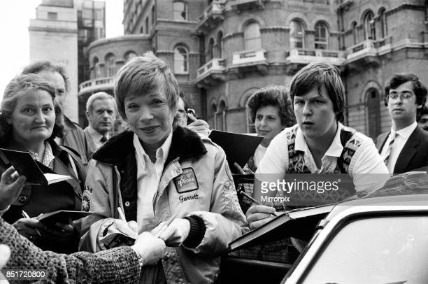 Shirley MacLaine arrives at the BBC to promote her new book 'Out on a Limb' 4th October 1983