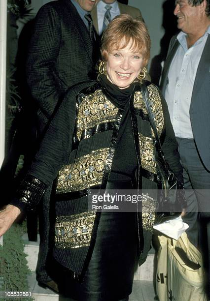 Shirley MacLaine during Shirley MacLaine Sighting at Spago's Restaurant in Hollywood January 8 1986 at Spago's Restaurant in Hollywood California...