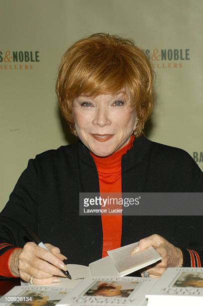 Shirley MacLaine during Shirley MacLaine Signs Her New Book Out On A Leash at Barnes Noble in New York City New York United States