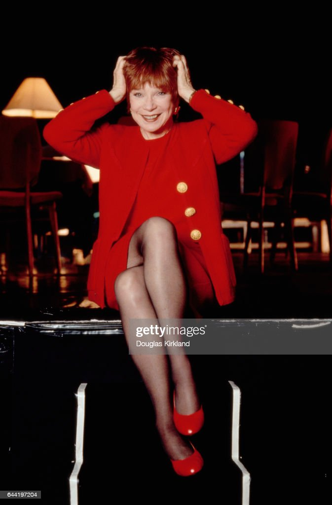 Shirley MacLaine in a Red Outfit