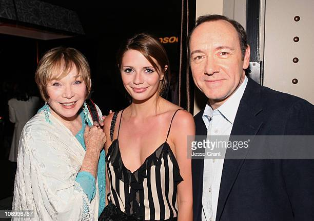 Shirley MacLaine Mischa Barton and Kevin Spacey during Kevin Spacey Announces the Launch of the New Triggerstreetcom and Their Latest Venture with...